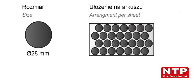 Podkładka antypoślizgowa samoprzylepna Ø28 czarna