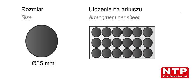 Podkładka antypoślizgowa samoprzylepna 35x35 czarna