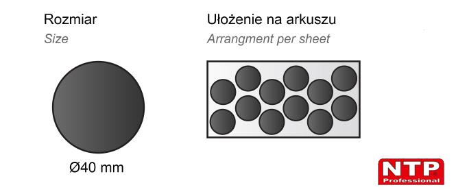 Podkładka antypoślizgowa samoprzylepna Ø40 czarna