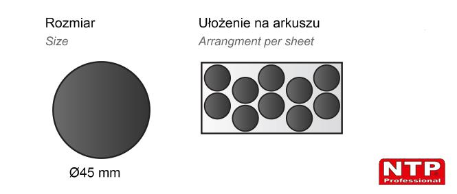 Podkładka antypoślizgowa samoprzylepna Ø45 czarna