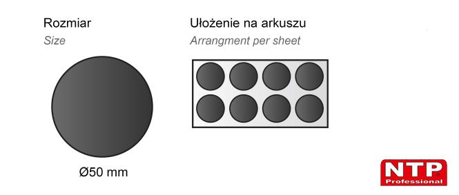 Podkładka antypoślizgowa samoprzylepna Ø50 czarna