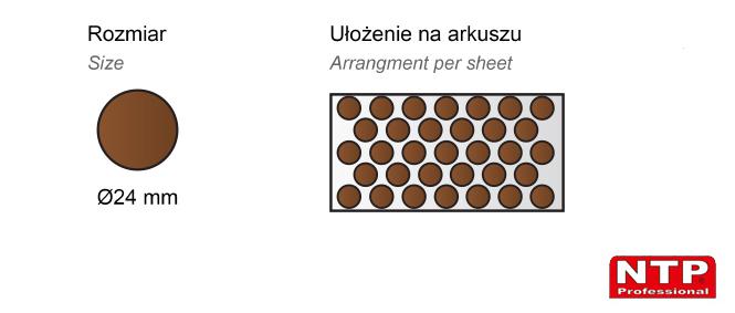 Filc samoprzylepny Ø24 brązowy