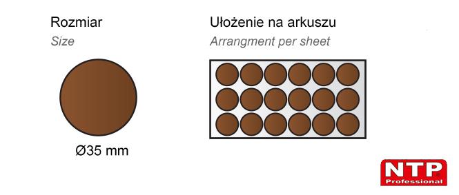Filc samoprzylepny Ø35 brązowy
