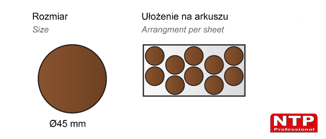 Filc samoprzylepny Ø45 brązowy