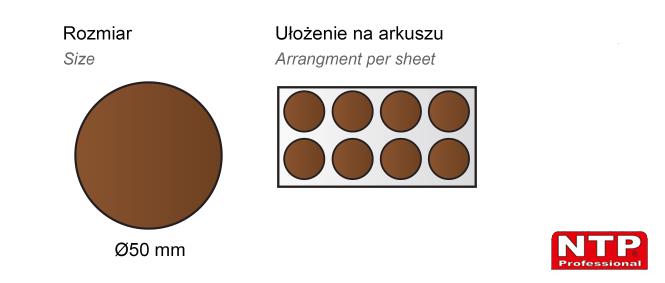 Filc samoprzylepny Ø50 brązowy