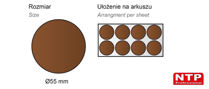 Filc samoprzylepny Ø55 brązowy