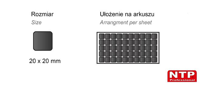 Podkładka antypoślizgowa samoprzylepna 20x20 czarna