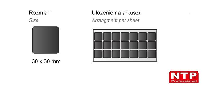Podkładka antypoślizgowa samoprzylepna 30x30 czarna