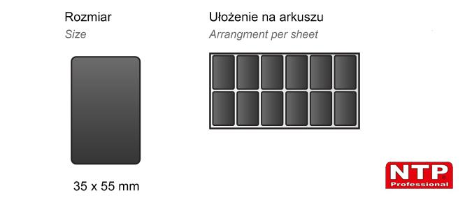 Podkładka antypoślizgowa samoprzylepna 35x55 czarna
