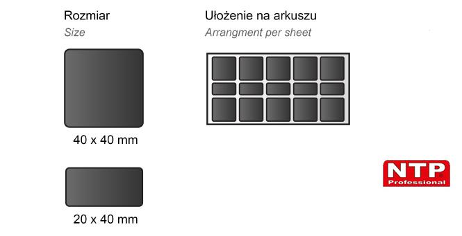 Podkładka antypoślizgowa samoprzylepna 40x40 czarna