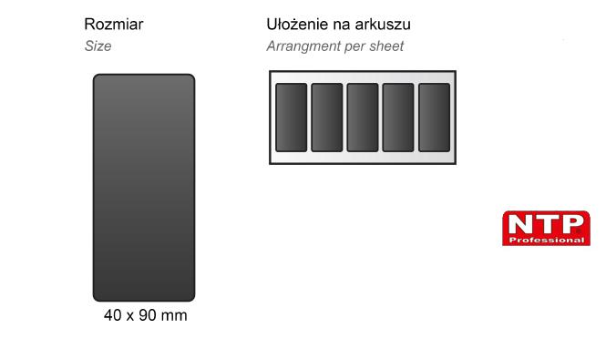 Podkładka antypoślizgowa samoprzylepna 40x90 czarna