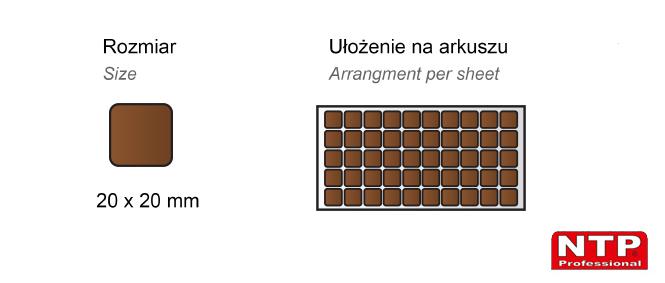 Filc samoprzylepny 20x20 brązowy