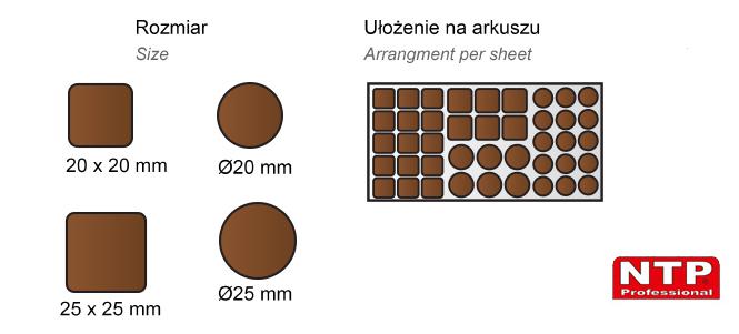 Filc samoprzylepny mix brązowy