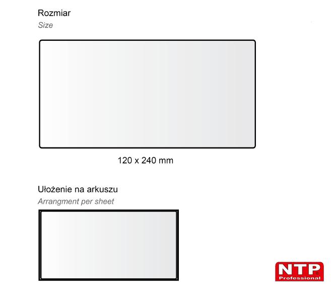 Podkładka antypoślizgowa samoprzylepna 120x240 biała