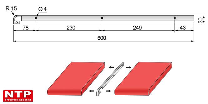 listwa szczelinowa 28mm rysunek techniczny