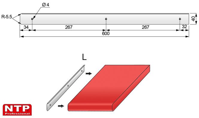 listwa boczna 38mm rysunek techniczny