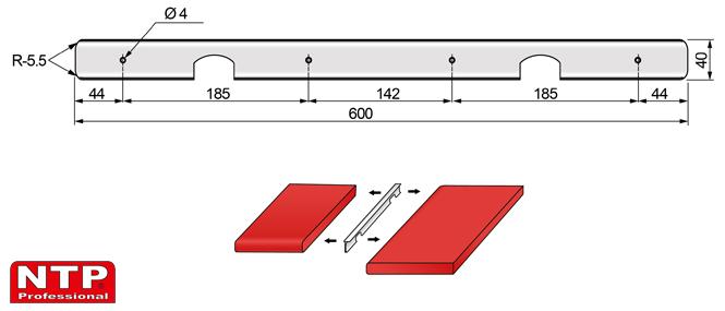 listwa kątowa 38mm rysunek techniczny
