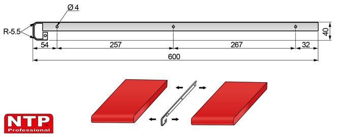 listwa szczelinowa 38mm rysunek techniczny