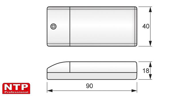 Zasilacz LED 6-15W rysunek techniczny