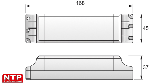 Zasilacz LED 30-60W rysunek techniczny