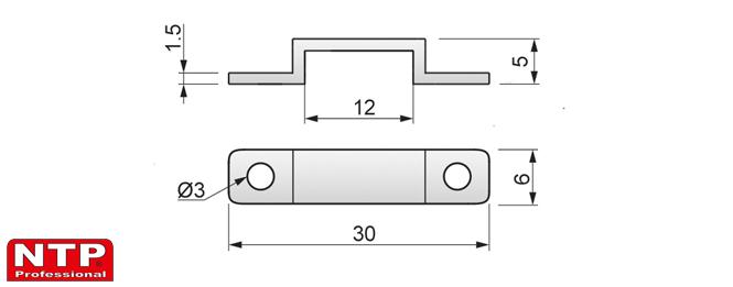 mocowanie taśm ledowych rysunek techniczny