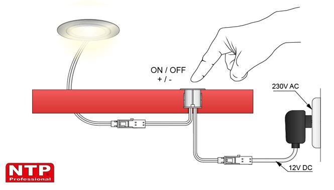 ściemniacz dotykowy rysunek techniczny