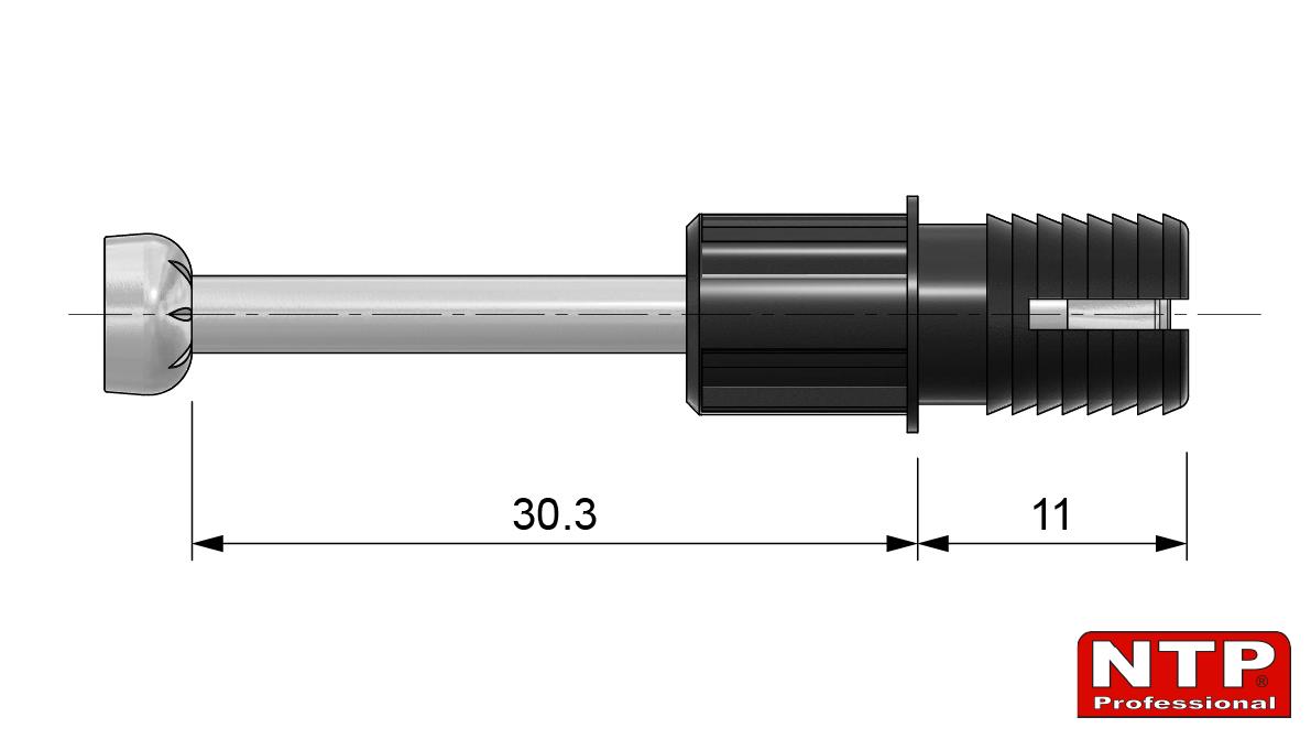 zaczep mimośrodu 24mm rozporowy rysunek techniczny