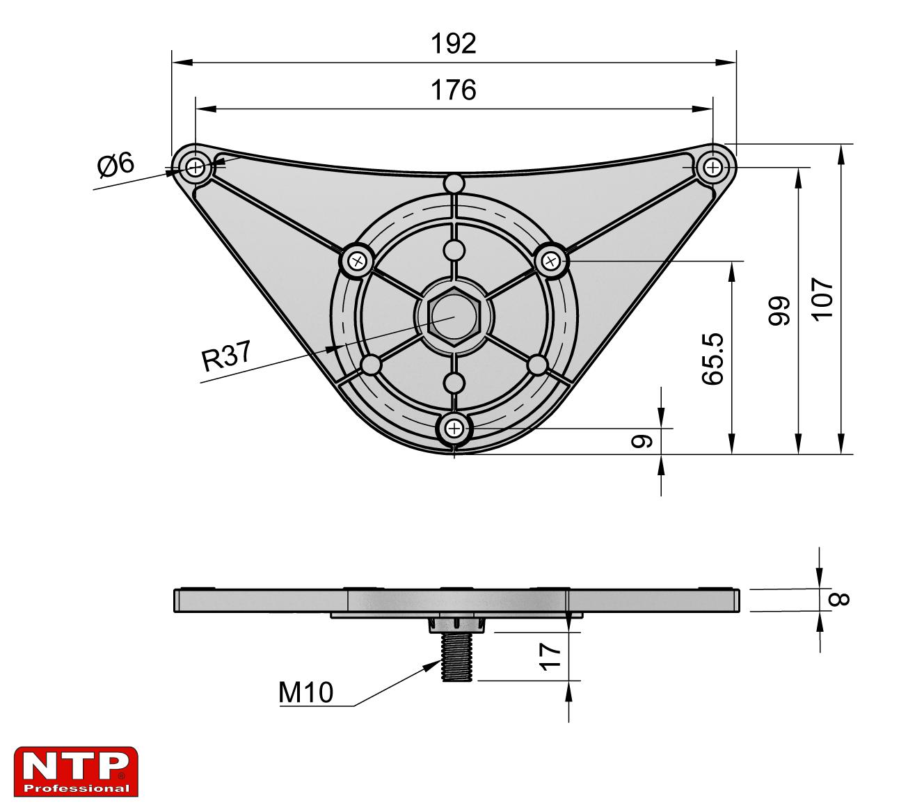 Podstawka rury rysunek techniczny