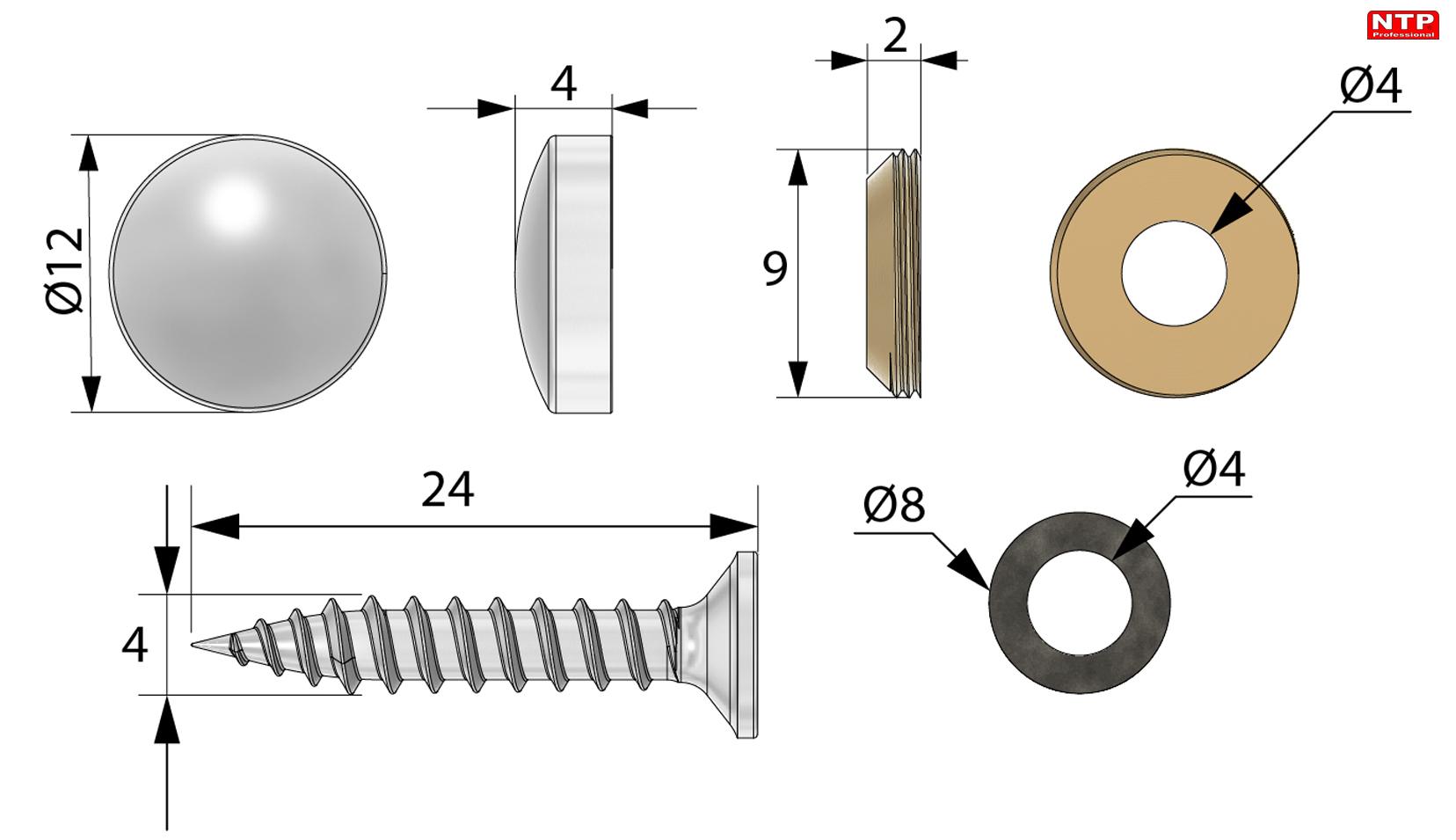 nakrętka m6 rysunek techniczny