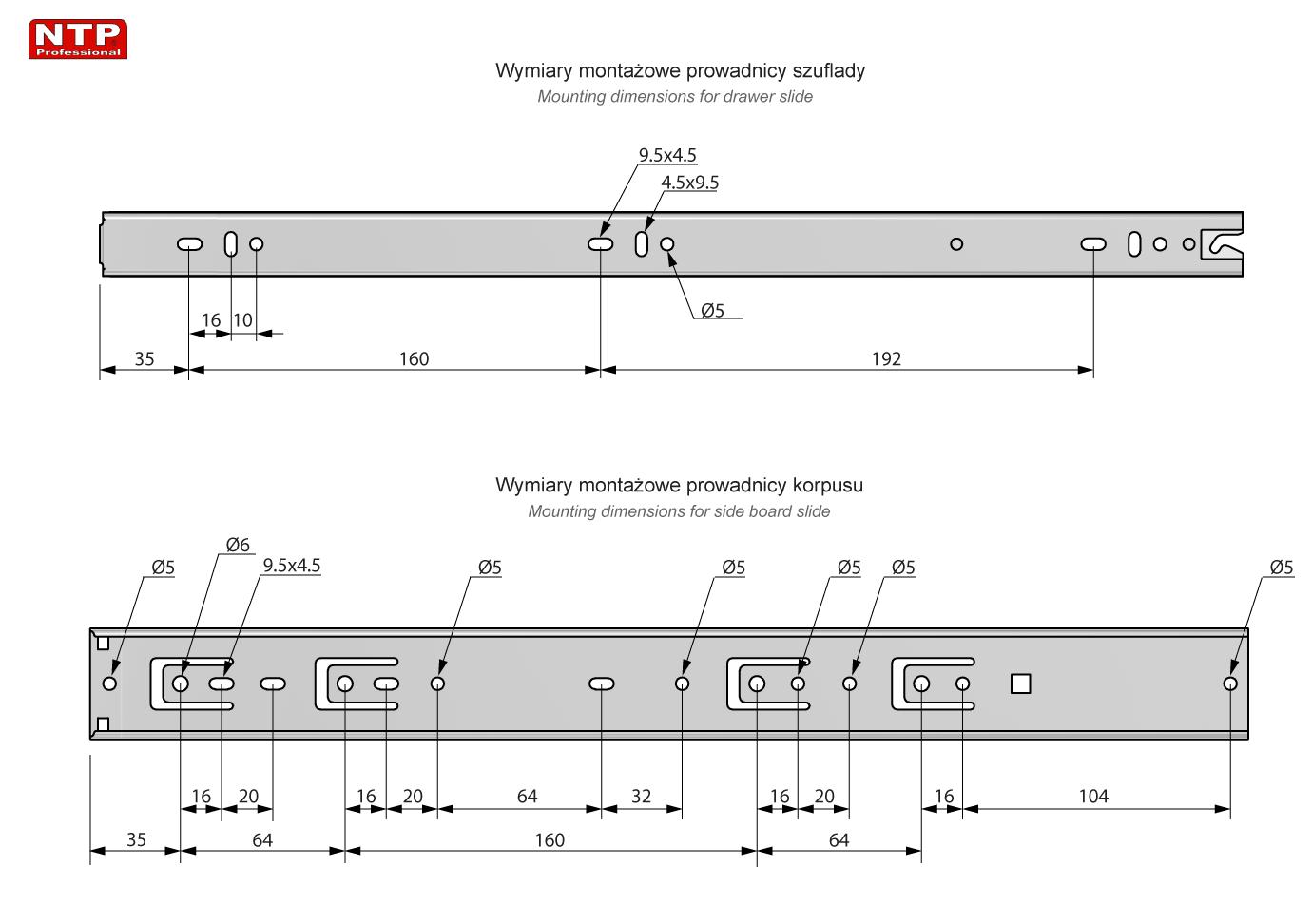 PK45S-450 rysunek techniczny
