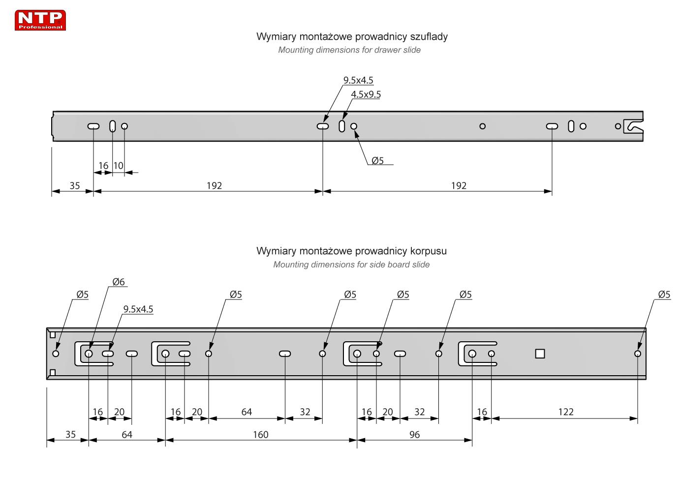 PK45S-500 rysunek techniczny