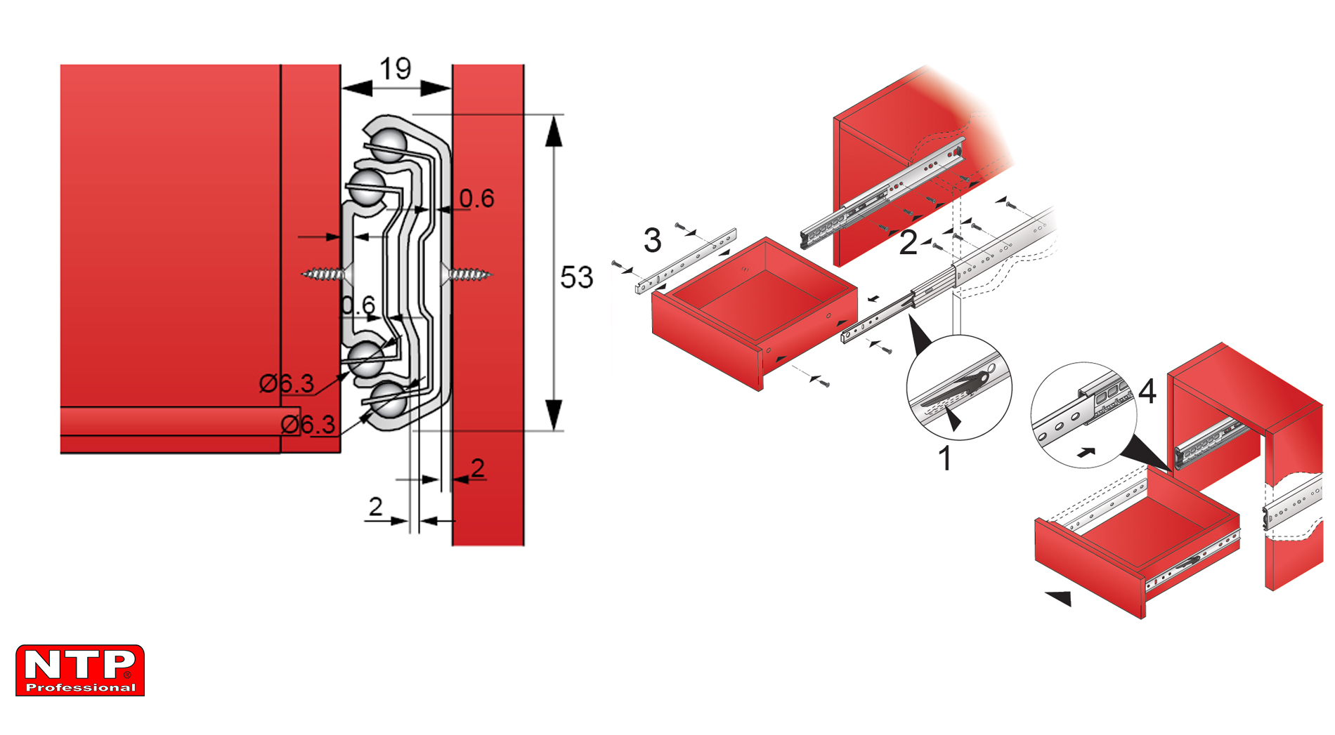 Instrukcje montażowe prowadnic PK53