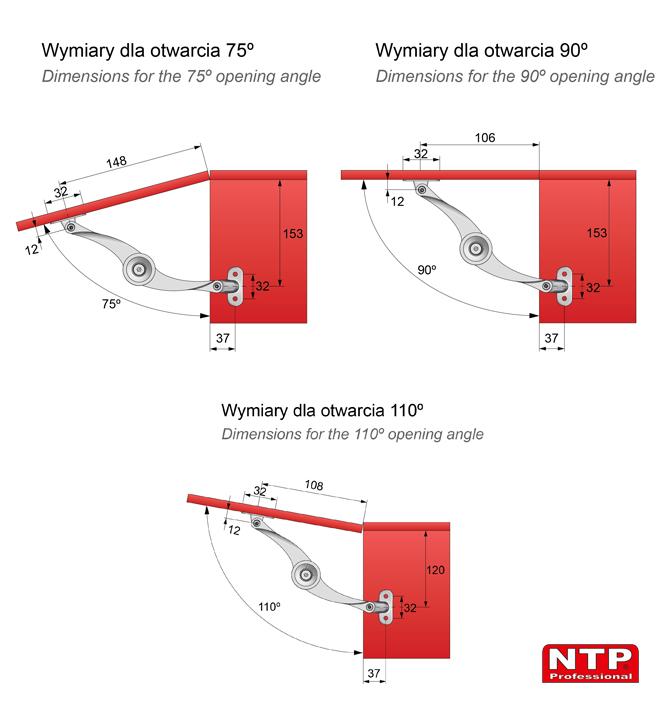 Podnośnik mechaniczny PM01 wymiary montażowe