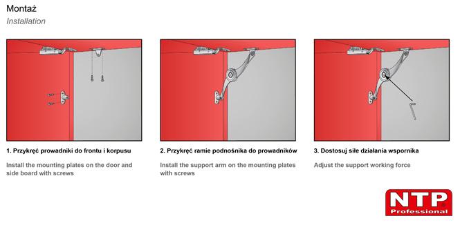 Podnośnik mechaniczny PM01 montaż