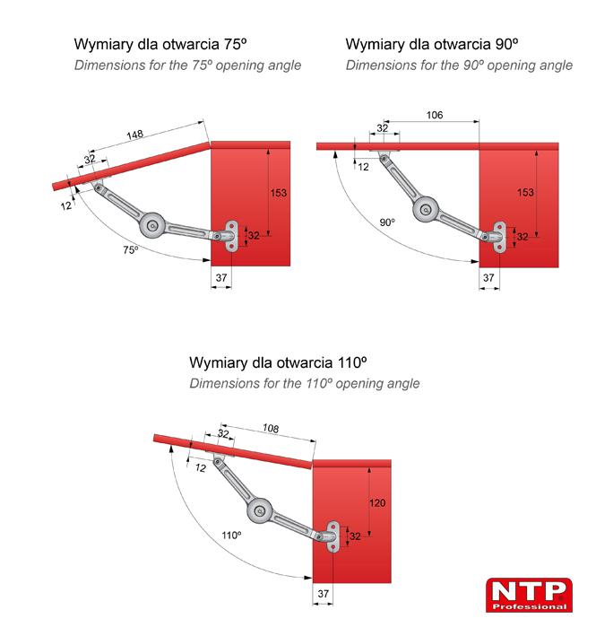Podnośnik mechaniczny PM02 wymiary montażowe