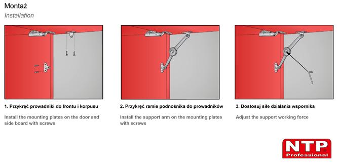 Podnośnik mechaniczny PM02 montaż