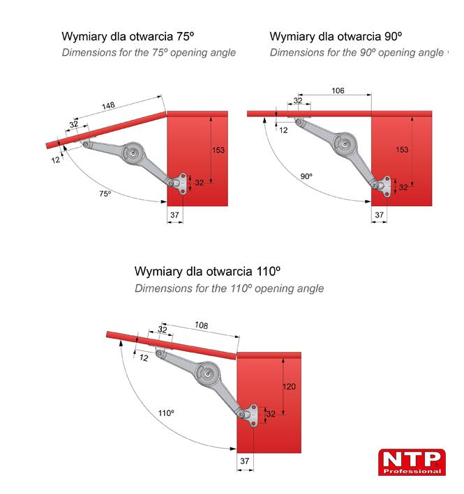 Podnośnik mechaniczny PM04 wymiary montażowe