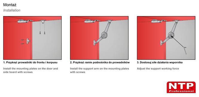 Podnośnik mechaniczny PM04 montaż