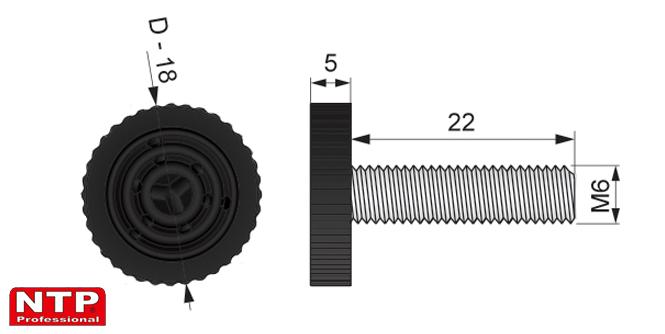 regulator pzoziomu M6 rysunek techniczny