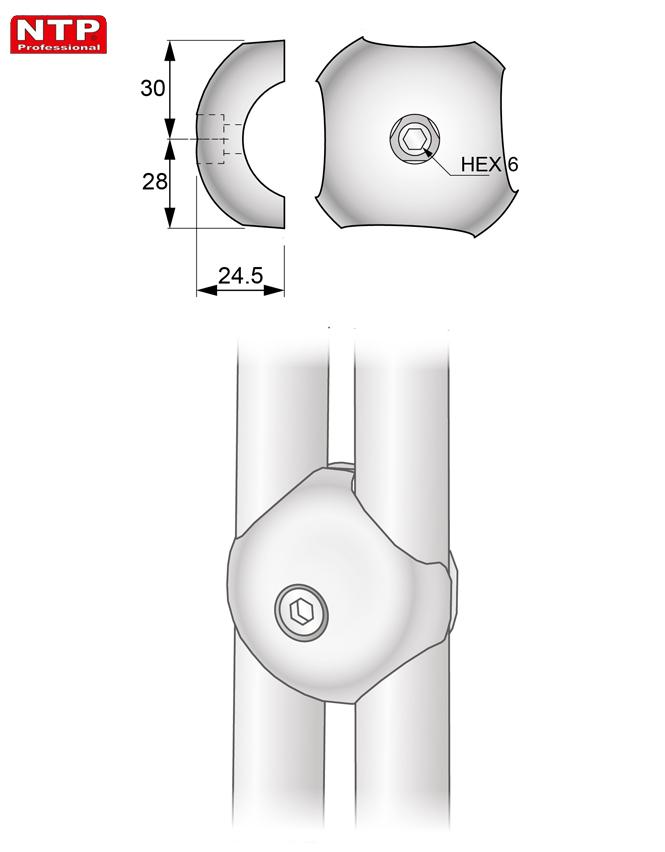 Złącze równoległe rysunek techniczny