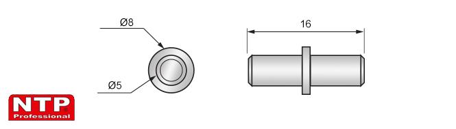 wspornik kołkowy rysunek techniczny