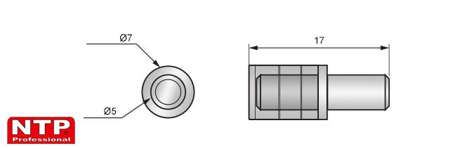 wspornik kołkowy z nakładką plastikową rysunek techniczny