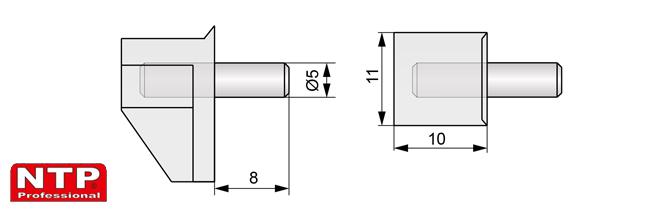 podpórka plastikowo-metalowa rysunek techniczny
