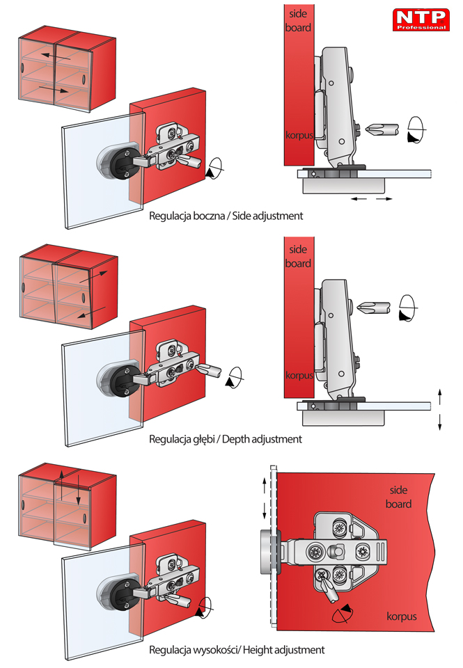 Regulacja zawiasu ZGCS22-H0R-1Z-AG01