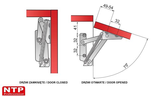 Zawias lift rysunki techniczne