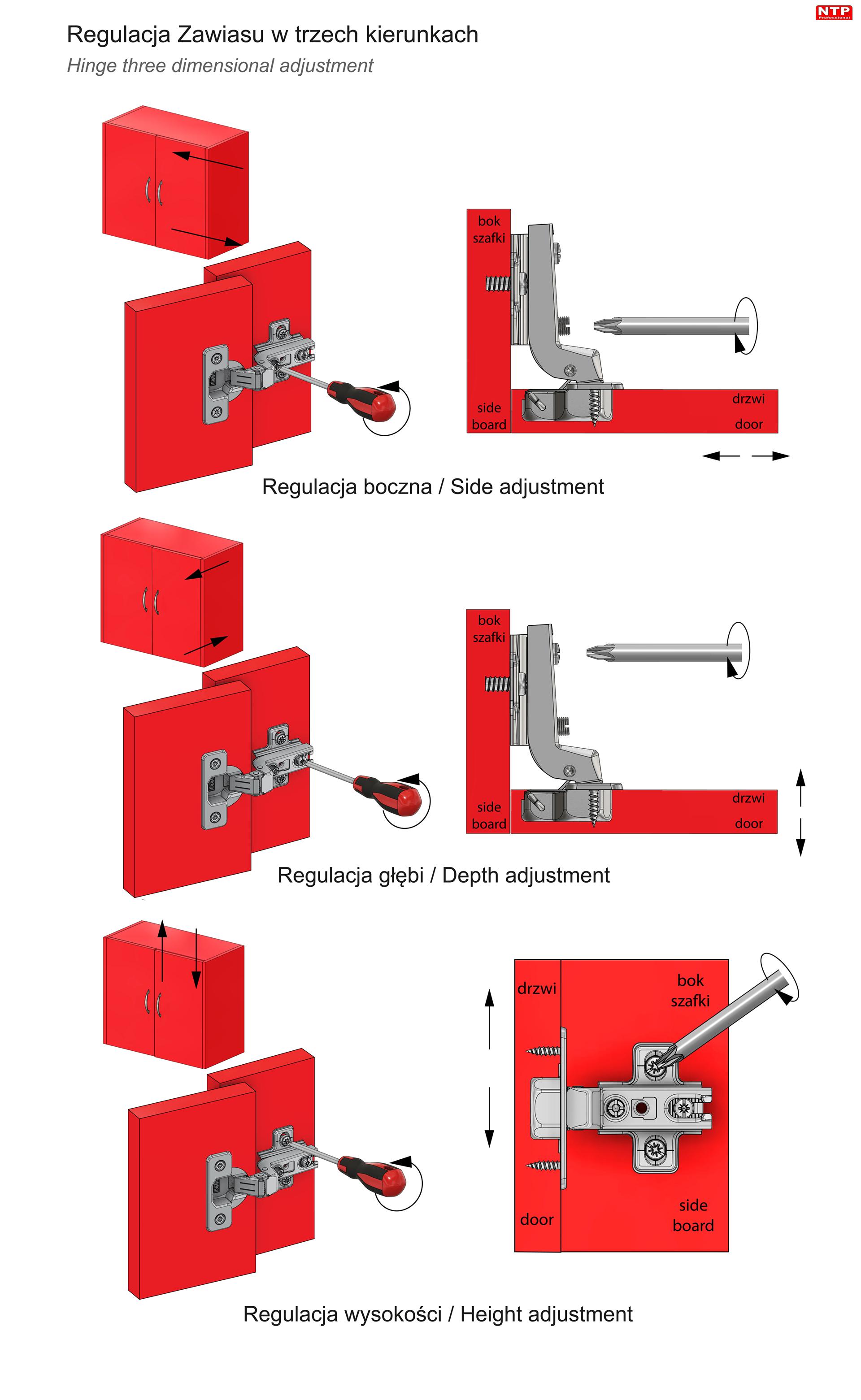 Zawias fi35mm do drzwi wpuszczanych z prowadnikiem H=2 z euro rysunki techniczne