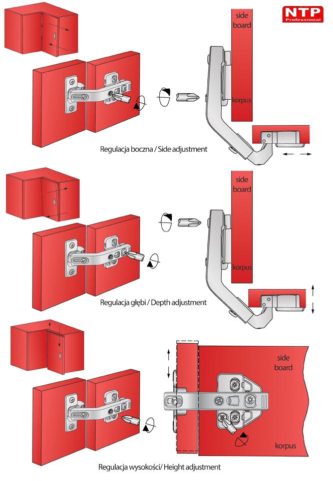 Regulacja zawiasu ZPC25R-H2R-1Z