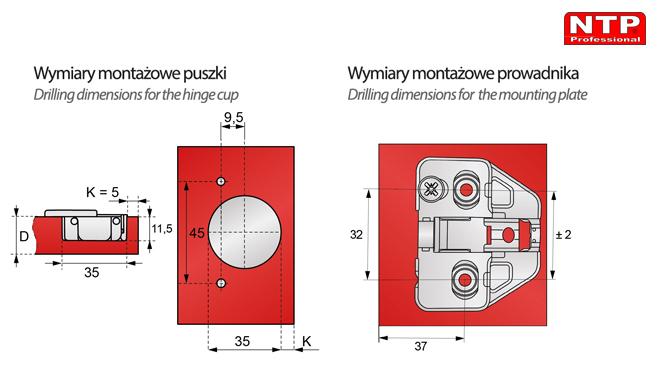 ZPCS2BR-H0R wymiary montażowe