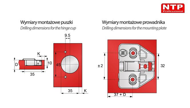 ZPCT21R-H0R-2Z wymiary montażowe