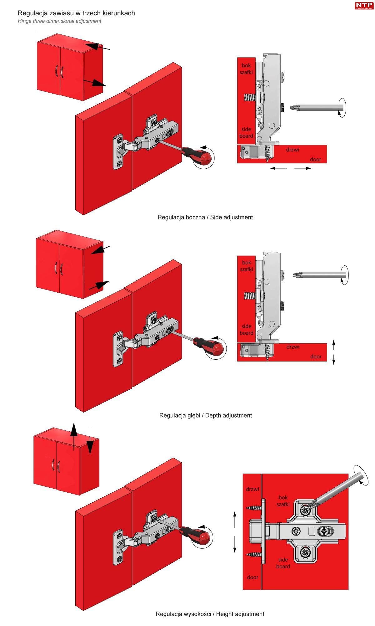 Regulacja zawiasu mini fi26mm